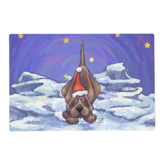 Hound Dog Christmas Placemat