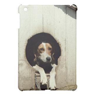 Hound dog in dog house iPad mini case
