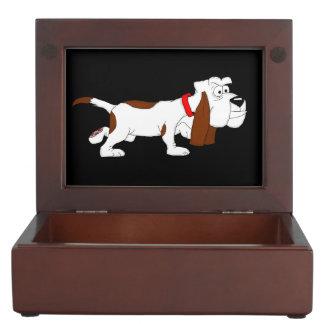 Hound dog keepsake box