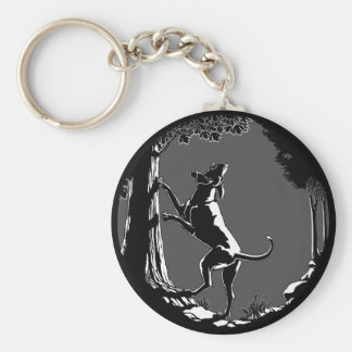 Hound Dog Keychain Hunting Dog Art Keychains