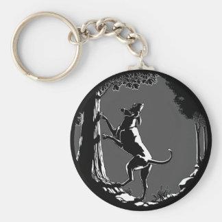 Hound Dog Keychain Hunting Dog Art Keychains