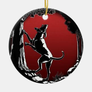 Hound Dog Ornament Custom Hunting Dog Decoration