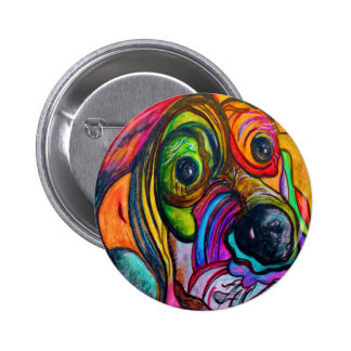Hound Dog Pinback Button