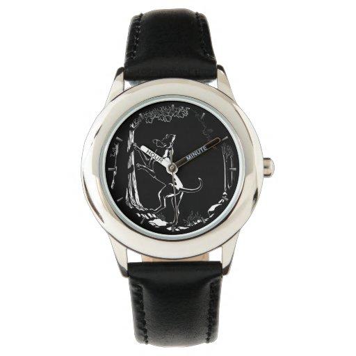 Hound dog watch hunting dog art wrist watch zazzle for Minimal art wrist watch