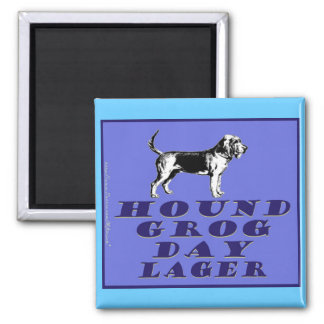 Hound Grog Day Blue Lager 2 Inch Square Magnet
