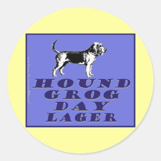 Hound Grog Day Blue Lager Classic Round Sticker