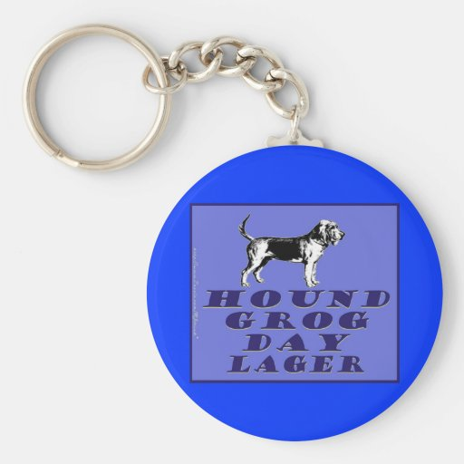 Hound Grog Day Blue Lager Keychains