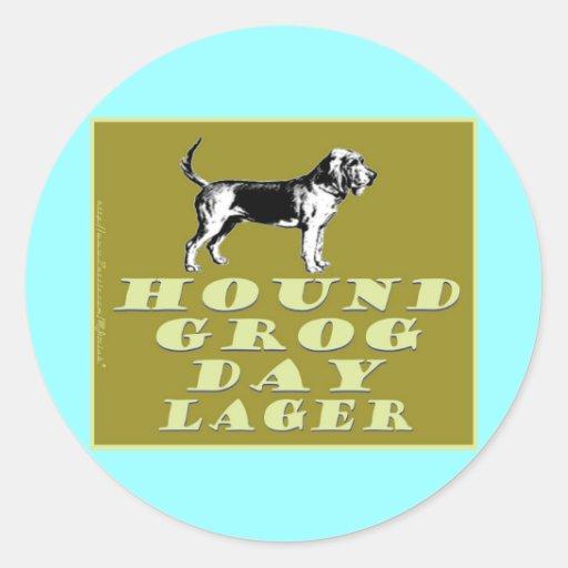 Hound Grog Day Gold Lager Classic Round Sticker