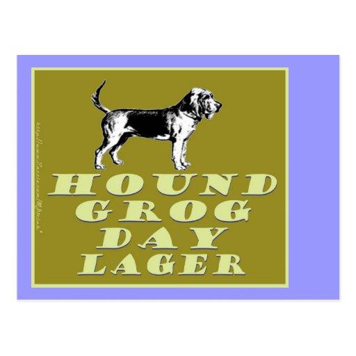 Hound Grog Day Gold Lager Postcard