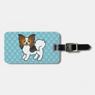 Hound Tricolor Papillon Cartoon Dog Bag Tag