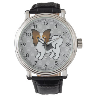 Hound Tricolor Papillon Cartoon Dog Wrist Watch