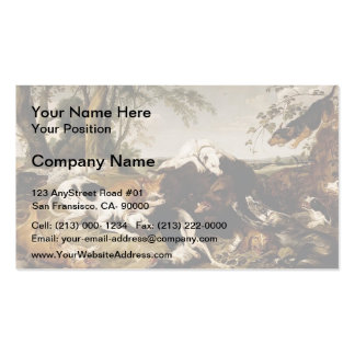 Hounds Bringing down a Boar by Frans Snyders Business Card Templates