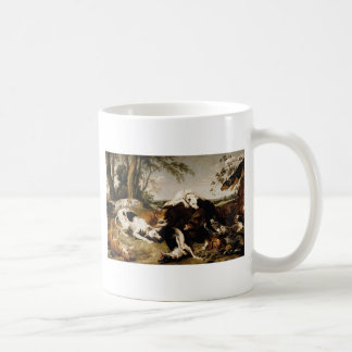Hounds Bringing down a Boar by Frans Snyders Coffee Mug
