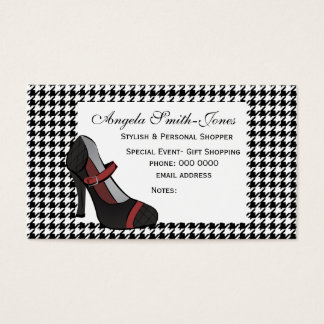 Hounds-tooth Heel! Business Card