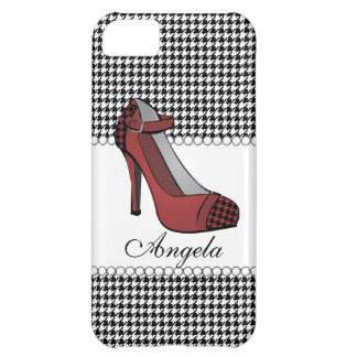 Hounds-tooth Heel! Case For iPhone 5C