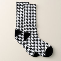 Hounds Tooth Pattern Socks