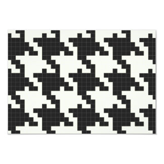 Hounds Tooth Pixel-Textured 3.5x5 Paper Invitation Card