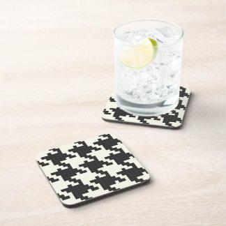 Hounds Tooth Pixel-Textured Beverage Coaster