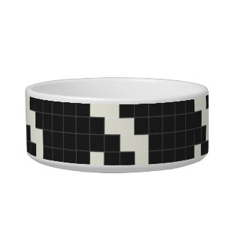 Hounds Tooth Pixel-Textured Bowl