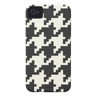 Hounds Tooth Pixel-Textured iPhone 4 Cover