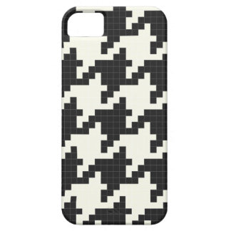 Hounds Tooth Pixel-Textured iPhone 5 Covers