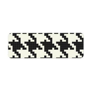 Hounds Tooth Pixel-Textured Custom Return Address Labels