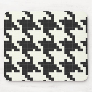 Hounds Tooth Pixel-Textured Mousepad