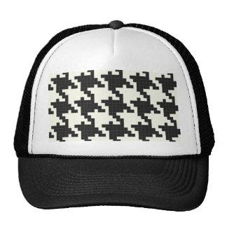 Hounds Tooth Pixel-Textured Trucker Hat
