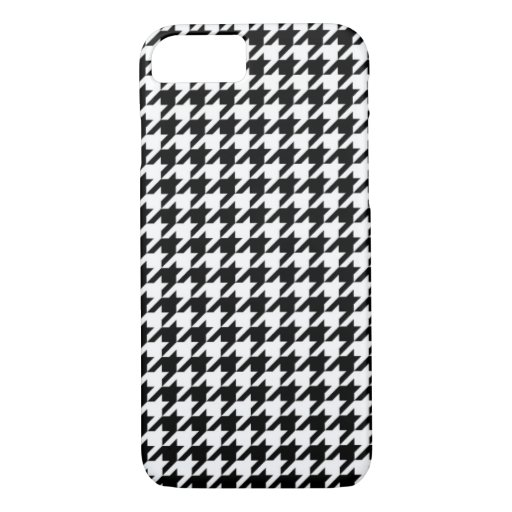Hounds tooth textile pattern turquoise cool black iPhone 8/7 case