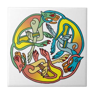 Hounds Triskele Celtic Tile