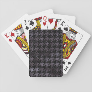 HOUNDSTOOTH1 BLACK MARBLE & BLACK WATERCOLOR PLAYING CARDS