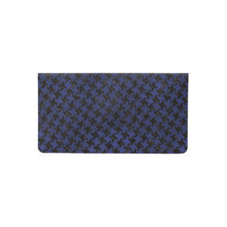 HOUNDSTOOTH2 BLACK MARBLE & BLUE LEATHER CHECKBOOK COVER