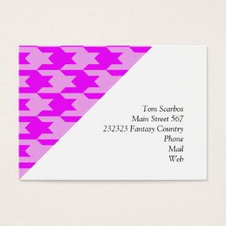 houndstooth 2 pink (I) Business Card