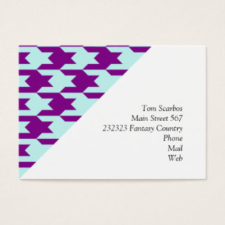 houndstooth 2 purple business card