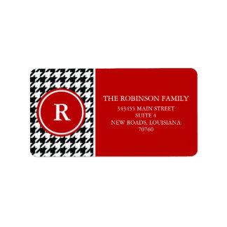 Houndstooth Address Label