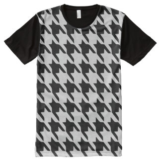 Houndstooth All-Over-Print T-Shirt
