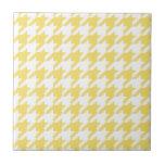 Houndstooth amarillo azulejo cerámica