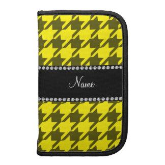 Houndstooth amarillo conocido personalizado organizador