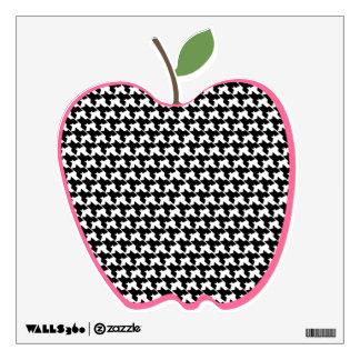 Houndstooth Apple empareda la etiqueta Vinilo Adhesivo