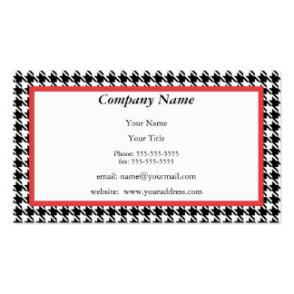 Houndstooth Appointment Reminder Card Business Card Templates