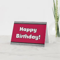 Houndstooth Birthday Card