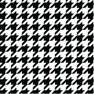 Houndstooth Black and White Classic Pattern Statuette