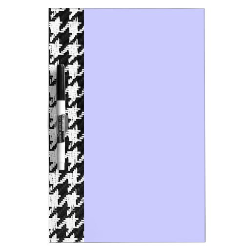 Houndstooth black and white Dry-Erase board