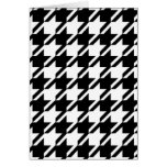 Houndstooth Black and White Note Cards