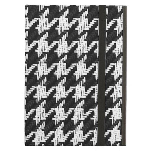 houndstooth - blanco y negro