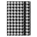Houndstooth blanco y negro clásico iPad mini protectores