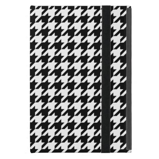 Houndstooth blanco y negro clásico iPad mini carcasas