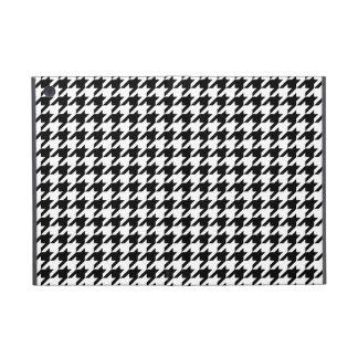 Houndstooth blanco y negro de muy buen gusto iPad mini protectores