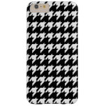 Houndstooth blanco y negro funda de iPhone 6 plus barely there