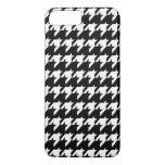Houndstooth blanco y negro funda iPhone 7 plus